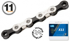 KMC X11 Chain Silver/Black