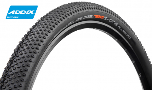 Pneu Schwalbe G-One Speed - Addix SpeedGrip - Super Ground - V-Guard - Tubeless easy - JANTE